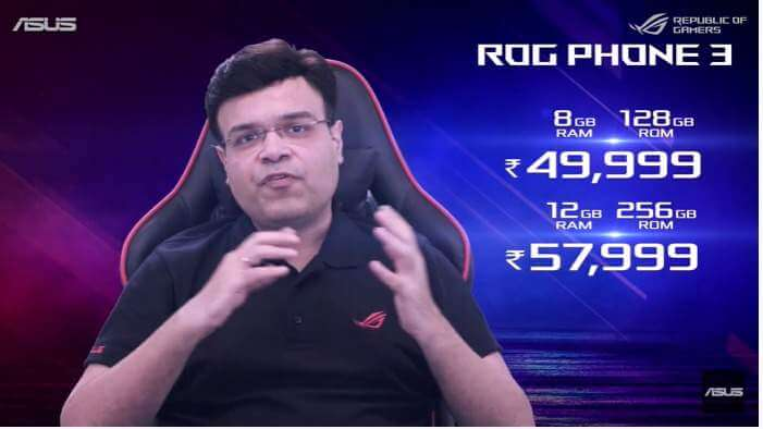 ROG Phone 3 pricing in India.