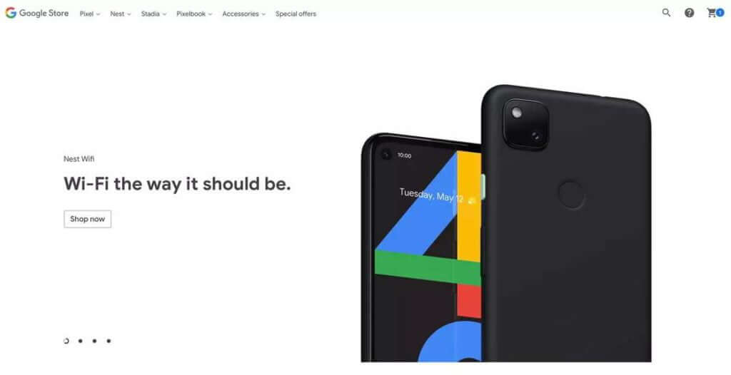 Pixel 4a on listed on Google store