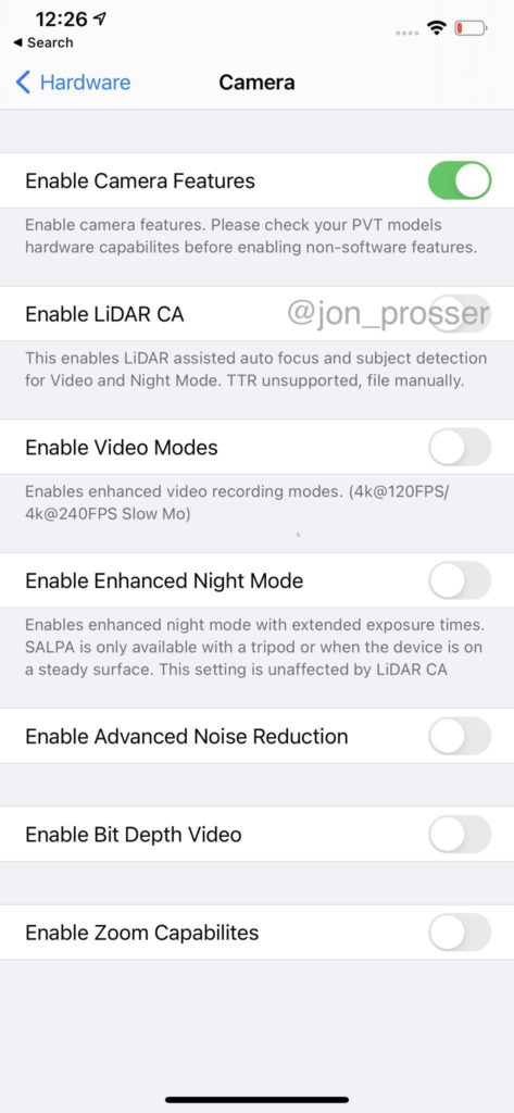 New camera features on iPhone 12.