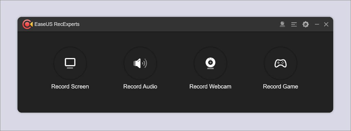 EaseUS RecExperts interface