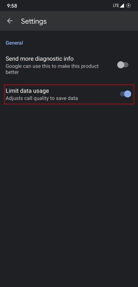 enable data saving mode