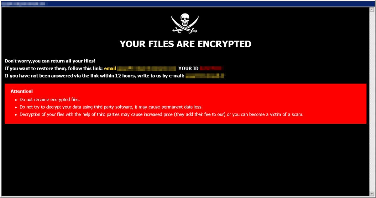 Encryption malware